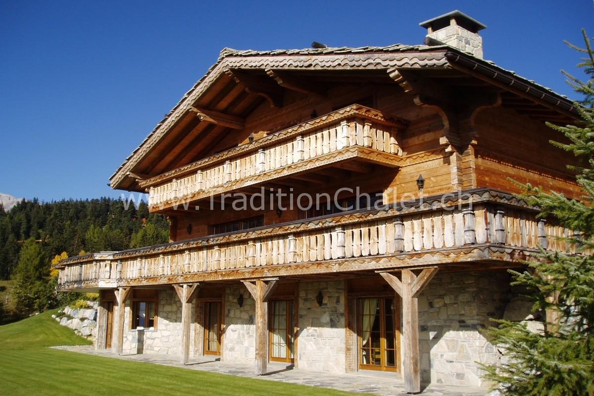 tradition chalet designer et constructeur de chalets crans montana