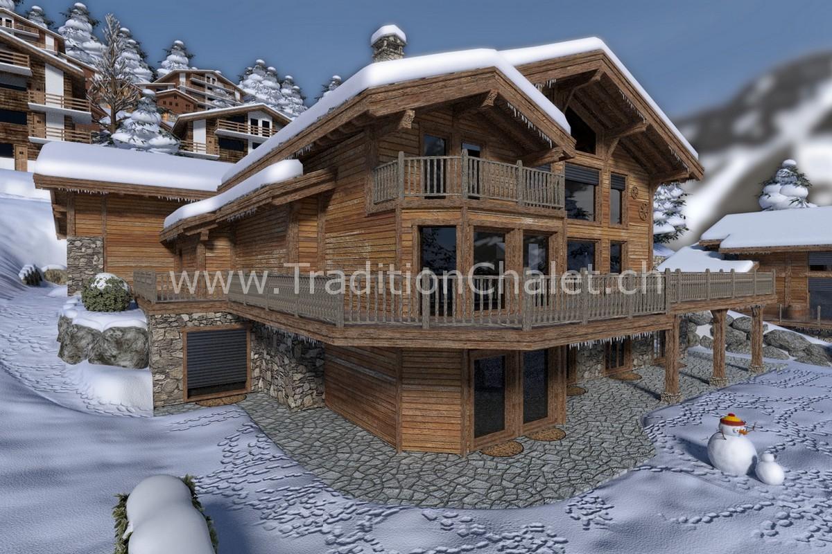 Tradition Chalet – Crans-Montana – Valais – Switzerland – Les Fermes de la Delege Chalet A