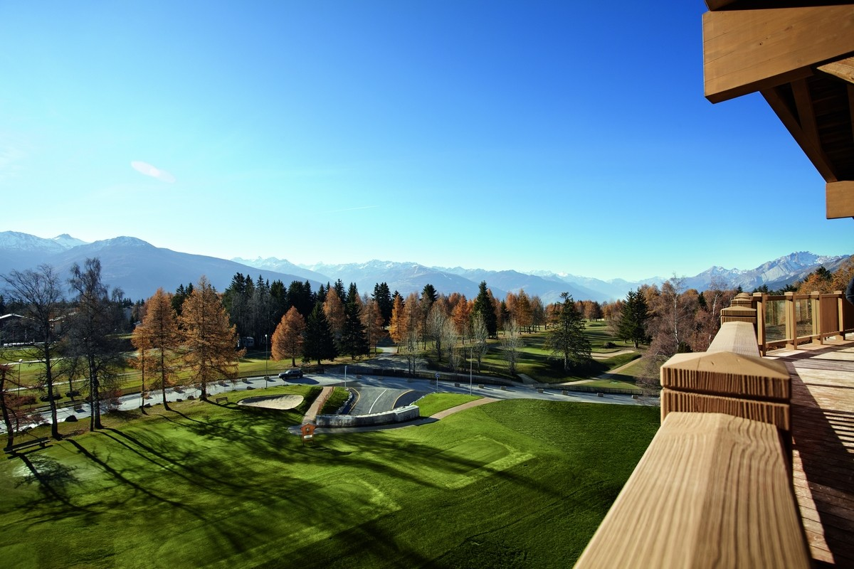 View from Crans Center