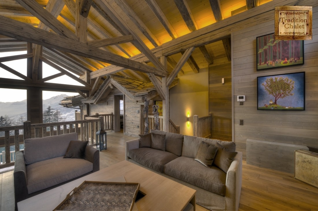 tradition chalet crans montana chalet de luxe vendre. Black Bedroom Furniture Sets. Home Design Ideas