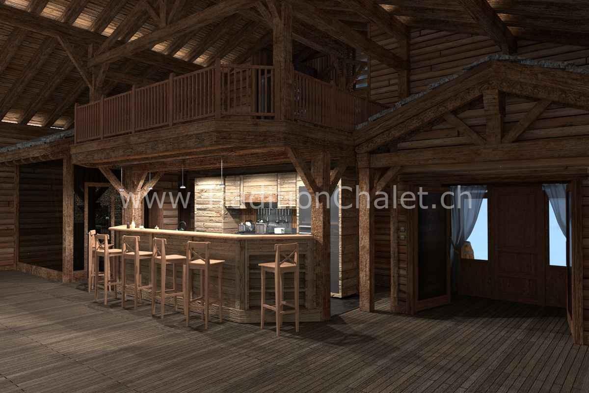 Tradition Chalet – Crans-Montana – Valais – Suisse – Chalet à vendre – Les Fermes de la Delege Chalet D- no 02
