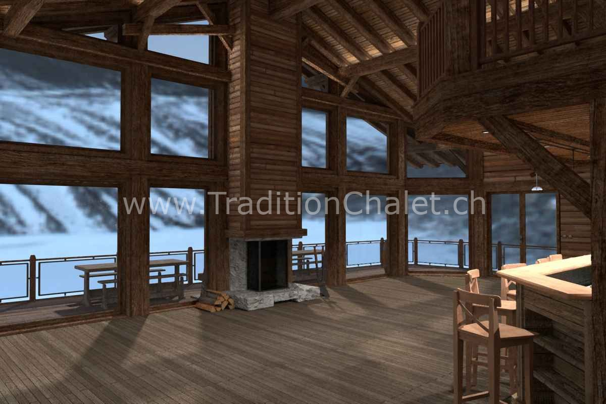 Tradition Chalet – Crans-Montana – Valais – Suisse – Chalet à vendre – Les Fermes de la Delege Chalet D- no 05
