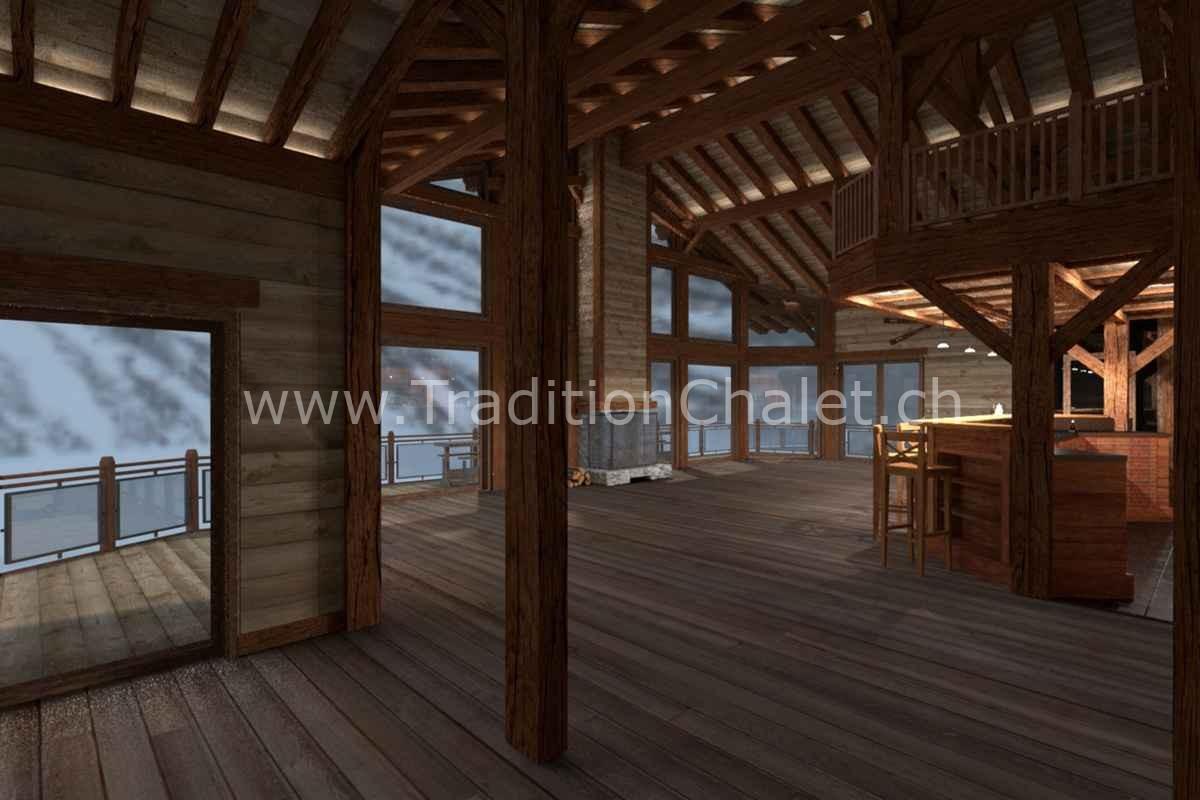 Tradition Chalet – Crans-Montana – Valais – Suisse – Chalet à vendre – Les Fermes de la Delege Chalet D- no 07