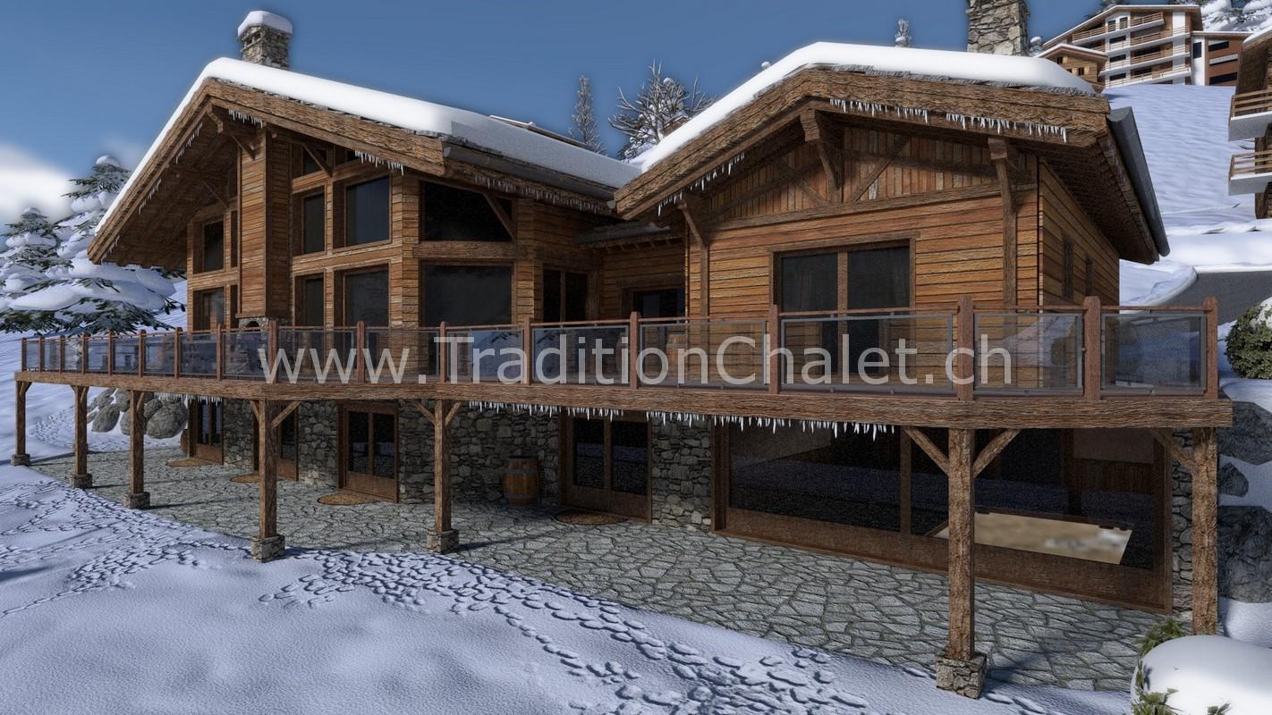 Tradition Chalet – Crans-Montana – Valais – Switzerland – Les Fermes de la Delege Chalet D