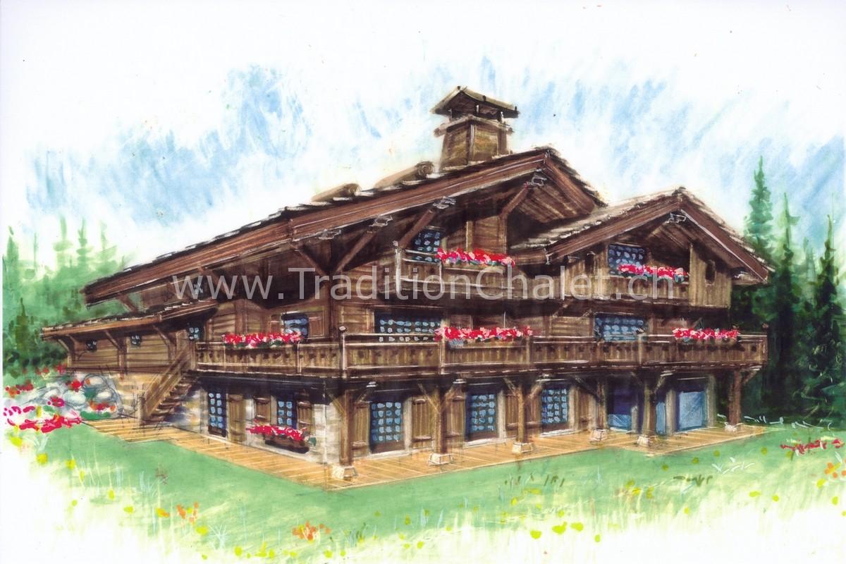 Tradition Chalet – Crans-Montana – Valais – Switzerland – Les Granges de Crehavouettaz Chalet A