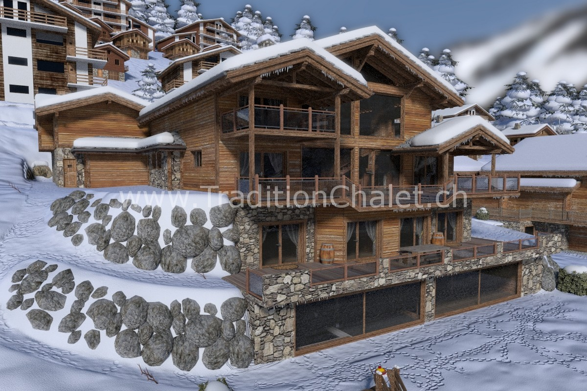 Tradition Chalet – Crans-Montana – Valais – Switzerland – Luxury Chalet for Sale – Les Fermes de la Delege Chalet C