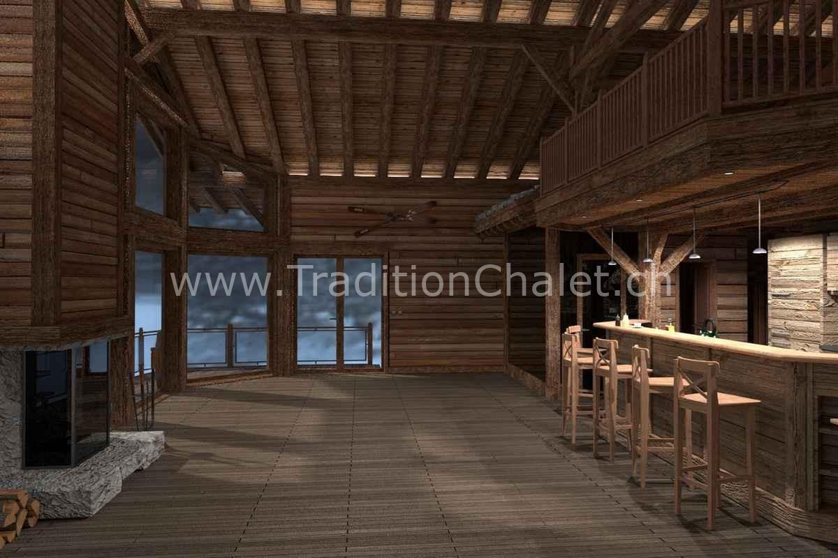Tradition Chalet – Crans-Montana – Valais – Suisse – Chalet à vendre – Les Fermes de la Delege Chalet D- no 03