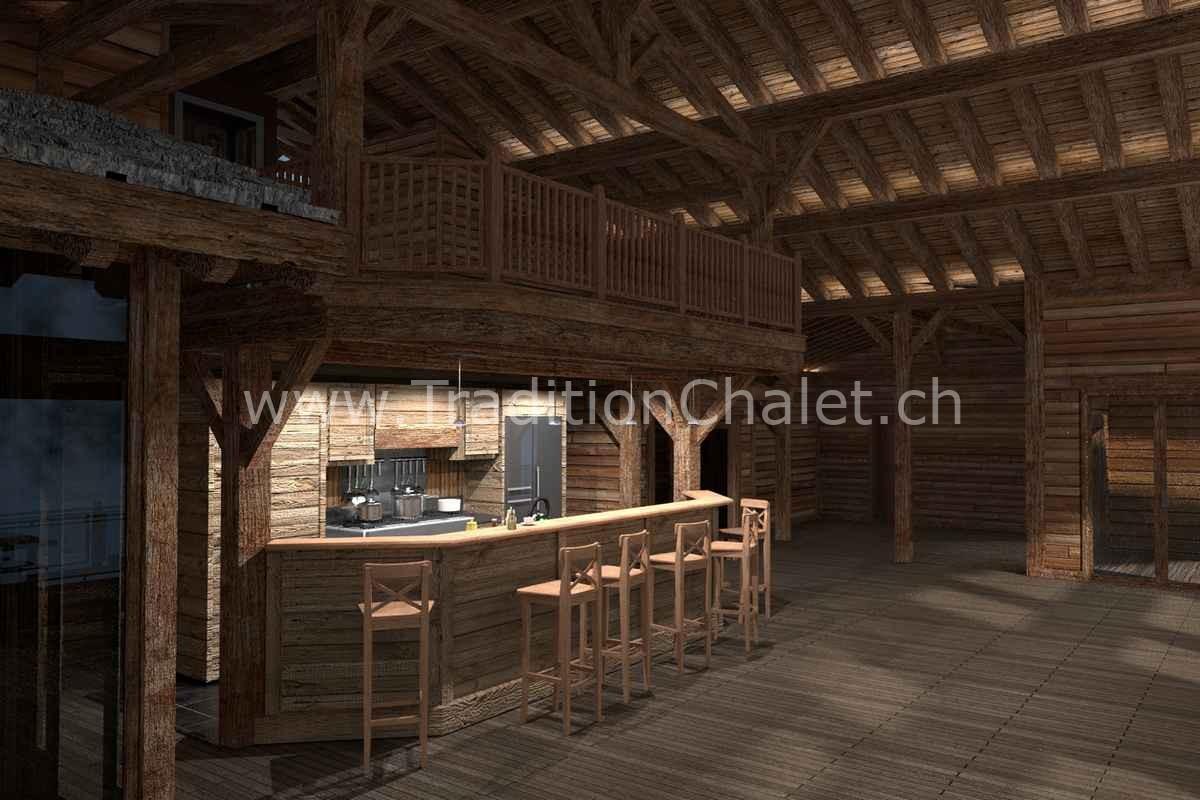 Tradition Chalet – Crans-Montana – Valais – Suisse – Chalet à vendre – Les Fermes de la Delege Chalet D- no 08